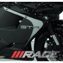 Novo Par De Adesivos Para Moto Comet Gtr Lateral Carenagem