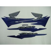 Adesivo Cb500 2002 Azul, Faixa Original Completa