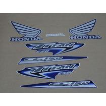 Kit Adesivos Honda Cg Titan 150 Esd 2007 Azul - Decalx