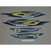 Kit Adesivos Honda Cg Titan Es 2001 Verde Perolizado- Decalx