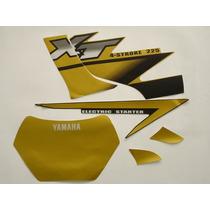 Adesivo Xt225 2002 Dourada, Faixa Original Completa