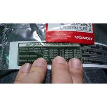 Adesivo Decalque Advertência Informação Dos Pneus Honda