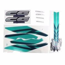 Adesivo Honda Cg Today 94 Azul Kit