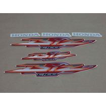 Kit Adesivos Honda Biz 100 Es 2003 Vermelha - Decalx