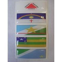 Kit 2 Bandeiras = Brasil E Seu Estado Para Placa Moto Carro