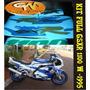 Adesivo Completo Gsxr W 1993 A 1995 (azul & Branca)