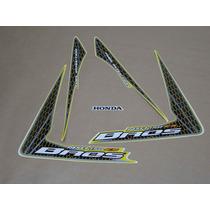 Kit Adesivos Honda Nxr150 Es Bros 2009 Amarela - Decalx
