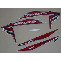 Kit Adesivos Honda Nxr150 Es Mix Bros 2010 Preta - Decalx