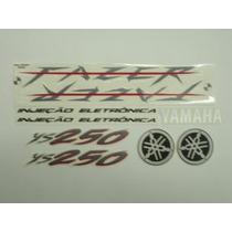 Adesivo Ys250 Fazer 2008 Preto, Faixa Original Completo