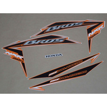 Kit Adesivos Honda Nxr150 Es Mix Bros 2010 Laranja - Decalx
