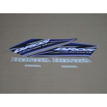 Kit Adesivos Honda Nxr125 Ks Bros 2005 Azul - Decalx