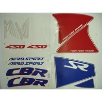 Adesivo Cbr450 Sr 1991 Branca, Faixa Original Completa