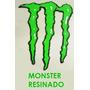 Kit 2 Adesivos Monster Resinado (alto Relevo) Carro Capacete