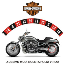 Adesivo Polia Roleta Casino Harley Davidson V-rod Rln123