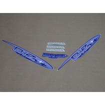 Kit Adesivos Honda Biz+ 2002 À 2003 Azul - Decalx