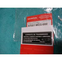 Adesivo Original Para O Capa Corrente Honda Xre300