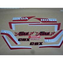 Kit Adesivos Honda Cbx 750 1986 Preta - Decalx