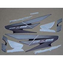 Kit Adesivos Honda Cbx Twister 250 2007 Preta - Decalx
