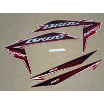 Kit Adesivos Honda Nxr150 Es Mix Bros 2010 Vermelha - Decalx