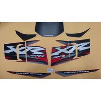 Kit Jogo Adesivo Honda Xr200 2002 Vermelha
