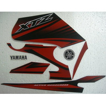 Adesivo Xtz 125 2012 Vermelha, Faixa Original Completa