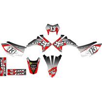 Kit Adesivos Gráfico Moto Crf 230 Ano 2015 Crfmd04 Fox Racin