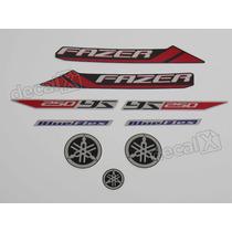 Kit Adesivos Yamaha Fazer 250bf 2013 Preta - Decalx