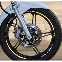 Friso Adesivo Refletivo Personalizado Mod10 Moto Honda Titan