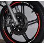 Friso Adesivo Refletivo Personalizado Mod08 Moto Honda Titan