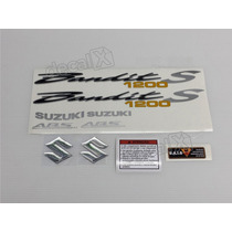 Kit Adesivos Suzuki Bandit 1200s 2009 Preta - Decalx