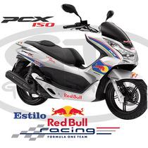 Adesivo Scooter Pcx 150 Red Bull - Com Aro Refletivo