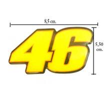Adesivo Resinado The Doctor Valentino Rossi 46 Eurogomes