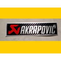 Adesivo De Escapamento Akrapovic Letra Prateada 10x3 Cm