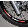 Kit 4 Adesivos Roda Refletivo Bicolor M01 Moto Honda Xre 300
