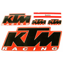 Kit Cartela 5 Adesivos Ktm Racing Resinados