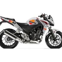 Kit Adesivo Honda 300r Serie Especial Cb 500 Moto Gp Repsol