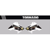 Adesivos Aletas Do Tanque Tornado -motocross-trilha