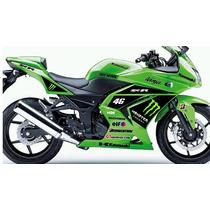 Moto Kawasaki Ninja 250 R 300r Kit Adesivos.