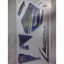 Kit Adesivos Xtz 125 2012 E 2013 Azul - Frete Grátis