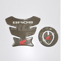 Protetor Tanque Tankpad + Bocal M01 Moto Honda Bros 125 150