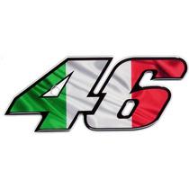 Adesivo 46 Valentino Rossi Itália Resinado P/ Moto Carro Etc