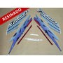 Kit Adesivos Xr 250 Tornado 2003 Azul - Resinado - Decalx