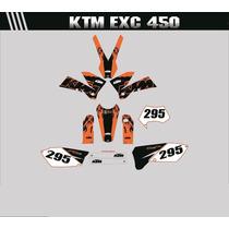 Adesivos Gráficos Moto Ktm Exc 450 Cola 3m Importada