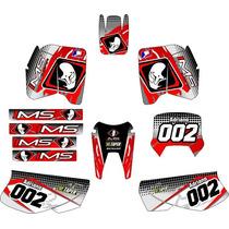 Kit Adesivo Gráfico Plotagem Moto Trilha Cross Xr200 Md2