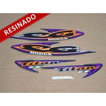 Kit Adesivos Cg Titan Es 2000 Verde - Resinado - Decalx