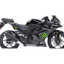 Adesivo Moto Kawasaki Ninja 250 R Kit Monster Ninjinha