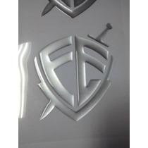 Adesivo Resinado Emblema Escudo Da Fé 13x10cm Carro Moto
