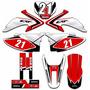 Kit Adesivos Gráficos Moto Crf 230 Completo + Proteção Crf03