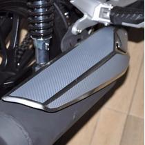 Adesivo Protetor Carbono Escapamento Moto Honda Cg Fan 160