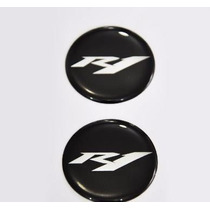 2 Adesivos Moto Resinado Yamaha R1 Yzf 3,5cm Spoiler Slider